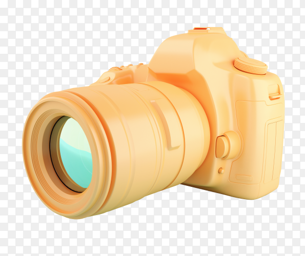 3D digital orange camera PNG