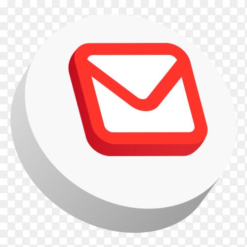 3d logo Gmail PNG