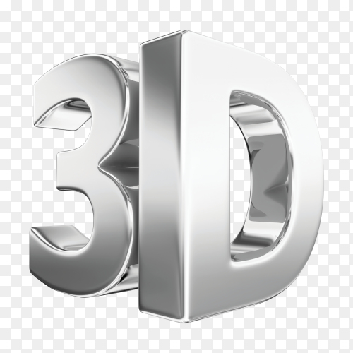 3d silver word PNG