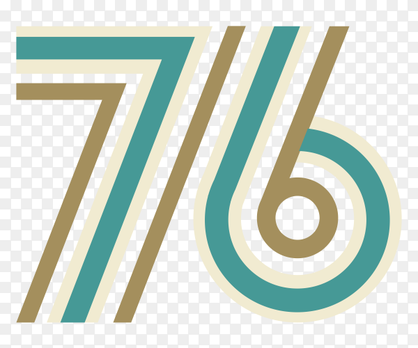 76 number PNG