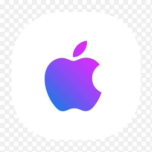 Apple – iPhone logo blue purple glowing PNG