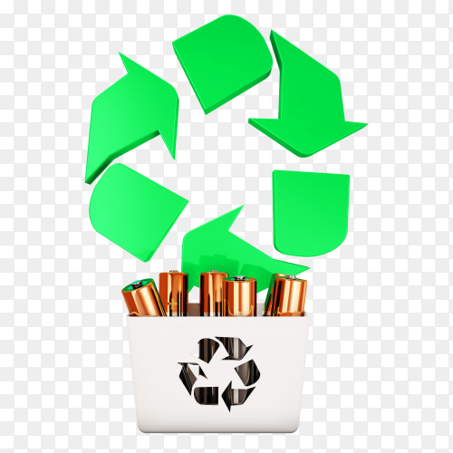 Battery Recycling 3d PNG