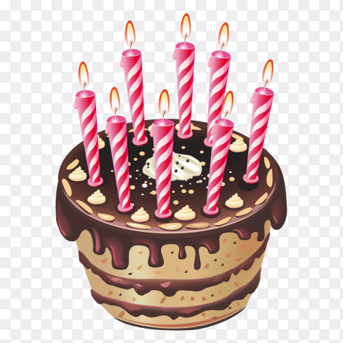 Beautiful birthday cake PNG