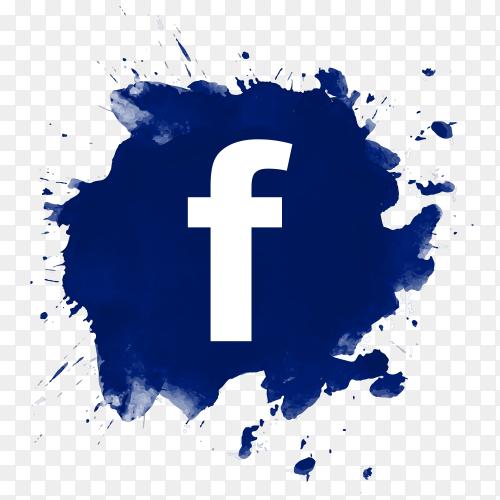 Beautiful design Facebook logo social media PNG