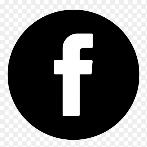 Black icon facebook logo PNG