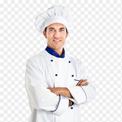 Cheerful chef PNG