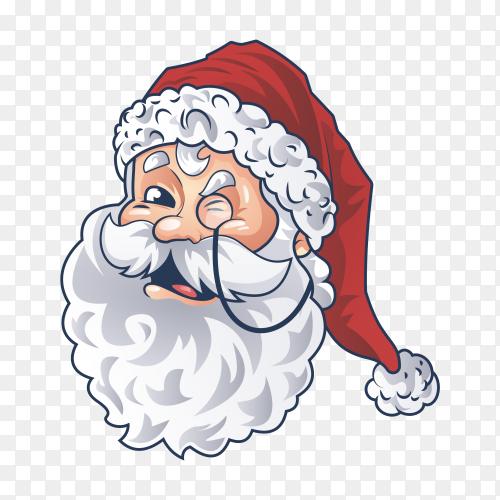 Cute santa face vector PNG