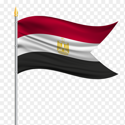 Flag flutters Arab Republic of Egypt PNG