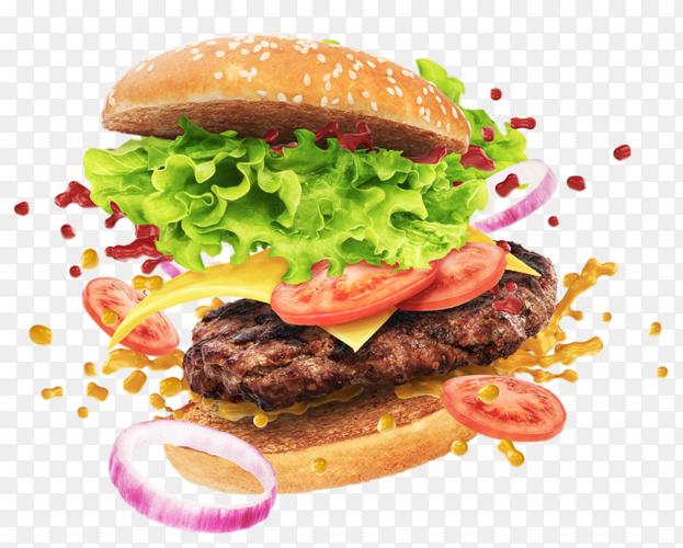 Floating burger PNG