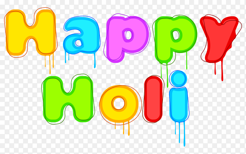 Happy holi traditional indian festival PNG