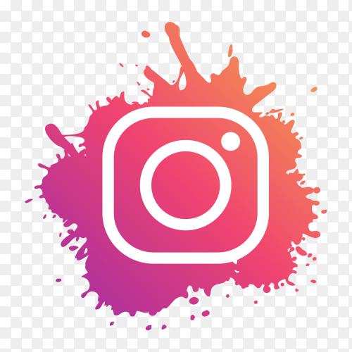 Instagram logo modern paint splash social media PNG