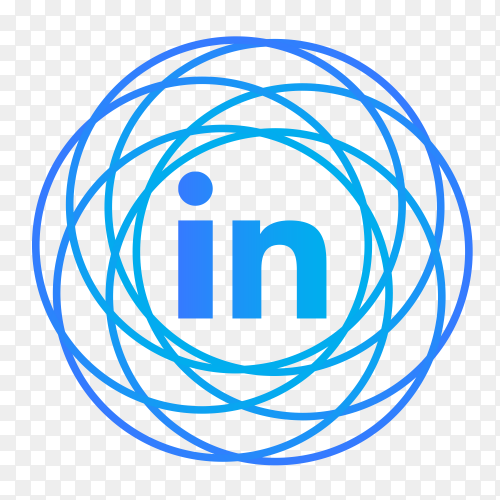 LinkedIn logo icon modern social media PNG