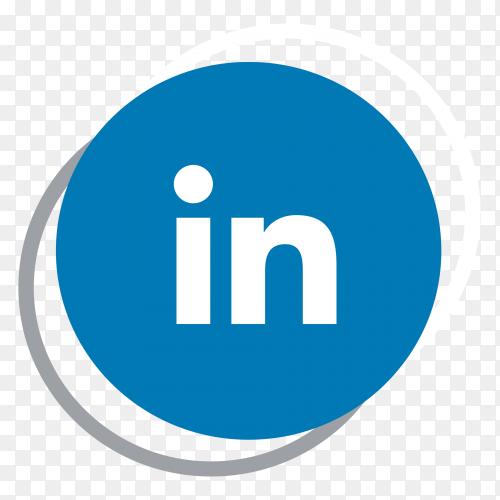 Linkedin logo elegant social media icon PNG