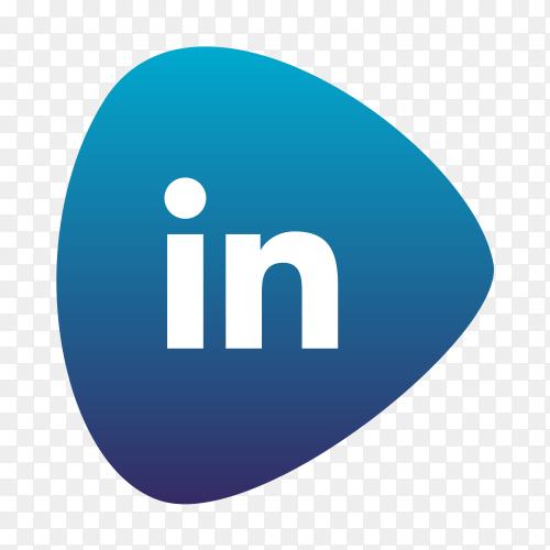 Linkedin logo gradient social media icon PNG