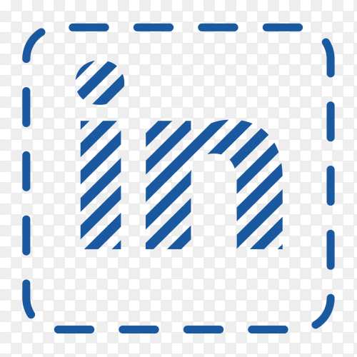 Linkedin logo social network texture PNG