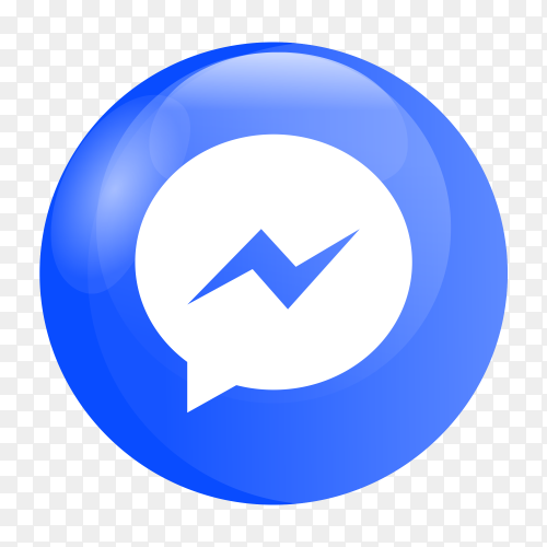 Messenger logo glossy social media PNG