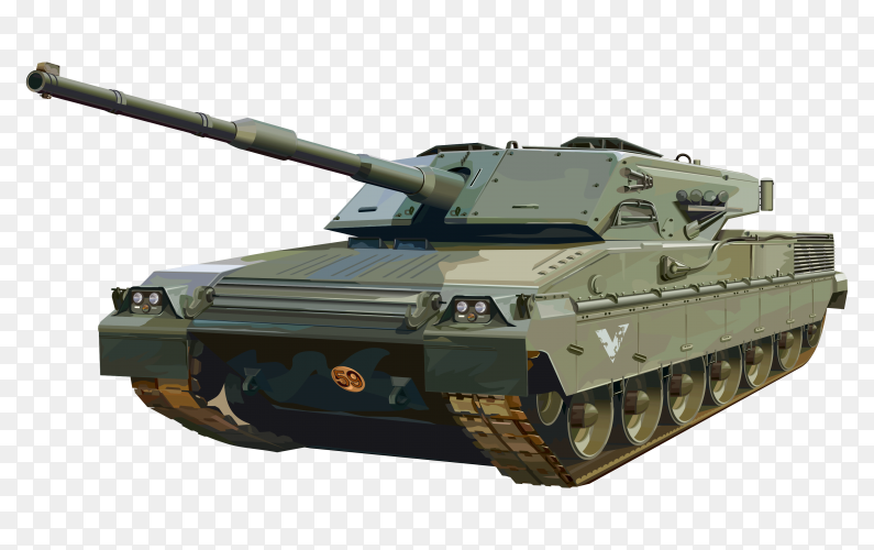 Military tank illustration Vector PNG