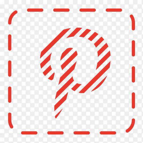 Pinterest logo social network texture PNG