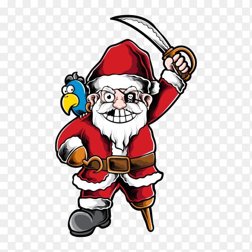Pirate santa vector PNG
