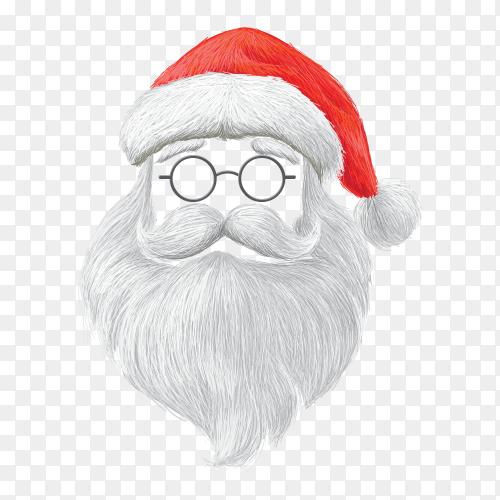 Santa claus head Transparent PNG