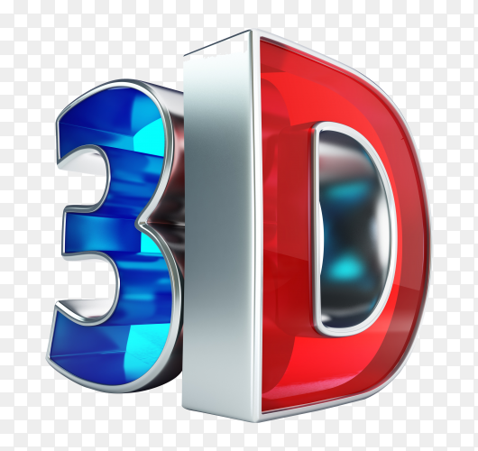 Shiny 3d word PNG