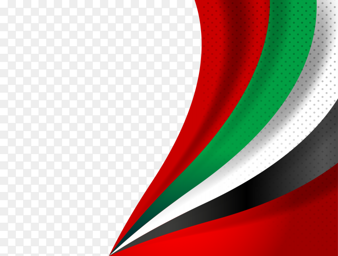 United Arab Emirates flag UAE flag – PNG