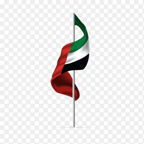United Arab emirates flag UAE PNG
