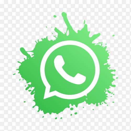 WhatsApp logo modern paint splash social media PNG