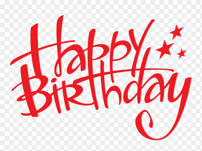 Happy birthday typography style PNG