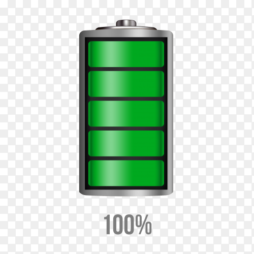 Battery 100% charging load status PNG