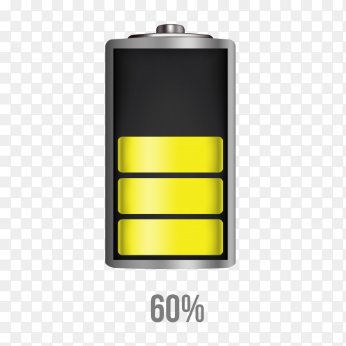 Battery 60% charging load status PNG
