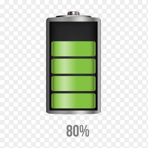 Battery 80% charging load status PNG