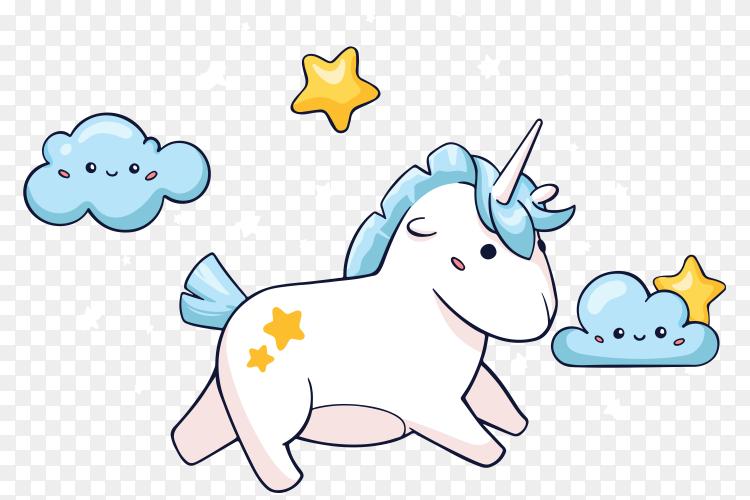 Cute unicorn Vector PNG