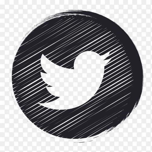 Black social media logo twitter PNG