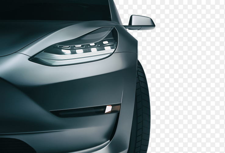 Black sports car. 3d rendering and illustration PNG