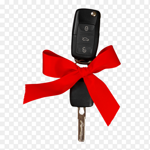 Car keys with red bow PNG
