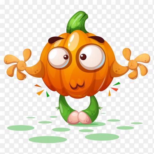 Cartoon pumpkin halloween PNG