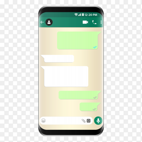 Chat WhatsApp template phone PNG