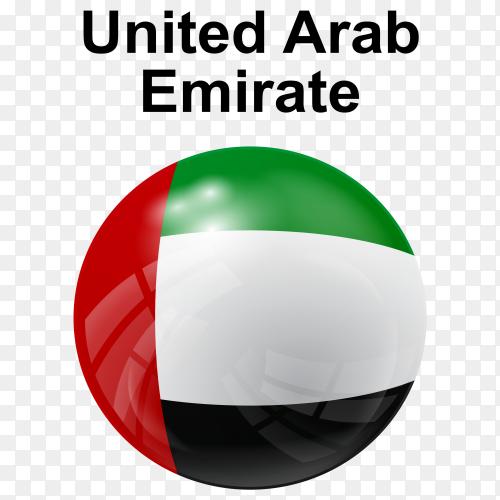 Circle glossy flag United Arab Emirate PNG