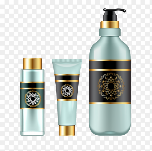 3D illustration cosmetic products PNG
