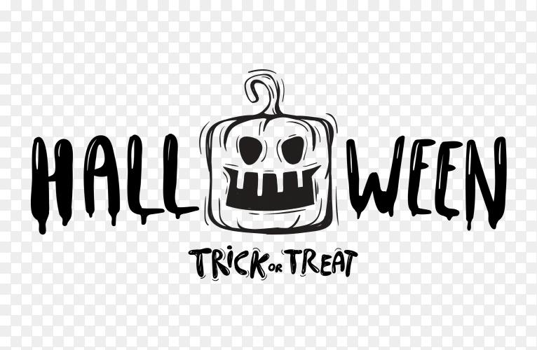 Happy halloween lettering text Vector PNG