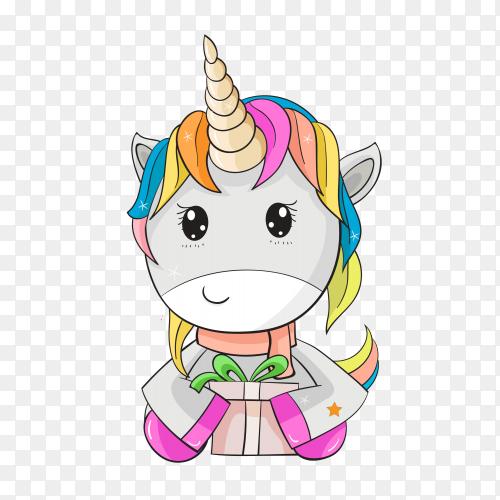 Cute unicorn PNG