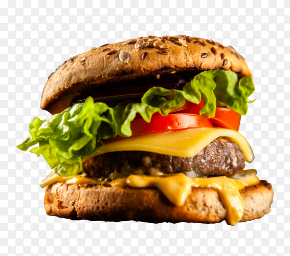 Delicious grilled burgers transparent PNG