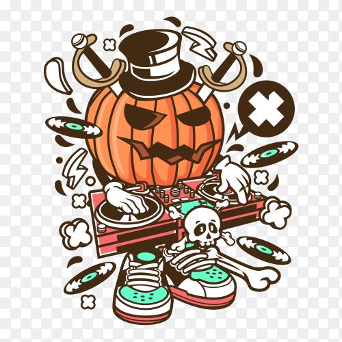 Dj halloween Vector PNG