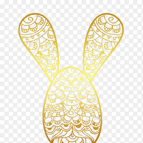 Easter rabbit ornamental PNG