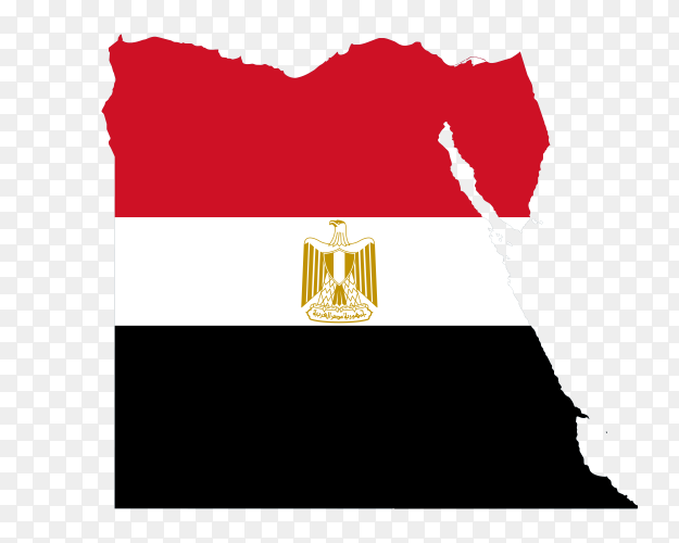 Egypt map flag national emblem PNG
