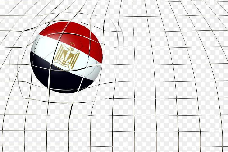 Egypt soccer ball flag PNG