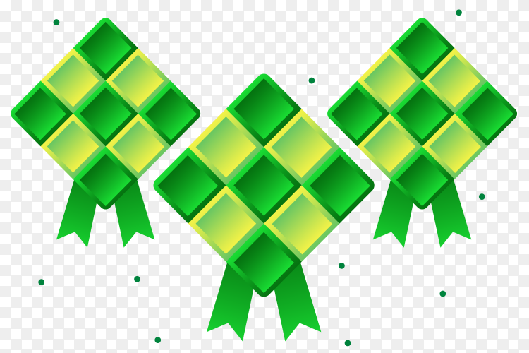 Traditional ketupat composition Vector PNG