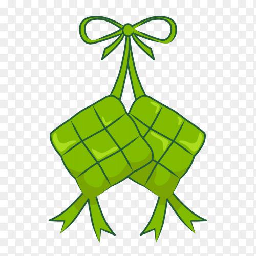 Hanging ketupat vector PNG