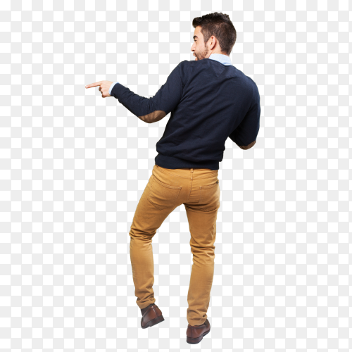 Elegant man full body dancing PNG